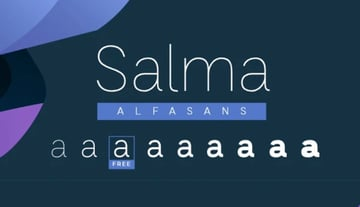 Salma Alfasans Logo Font