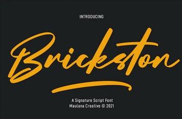 Brickston Signature Script Font