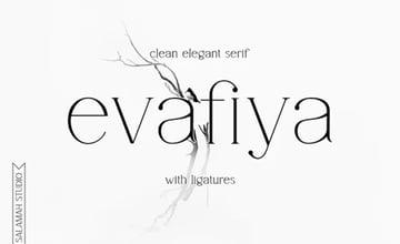 Evafiya Clean Serif Font