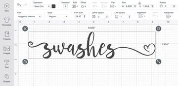 Cricut Font in use