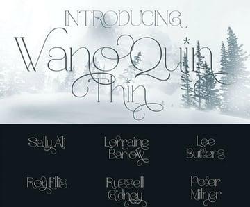 Wano Quin Thin Elegant Serif Font