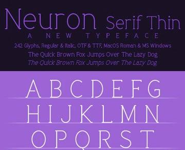 Neuron Serif Thin