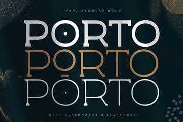 Porto Display Spur Serif Font