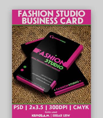 Fashion Studio Business Card