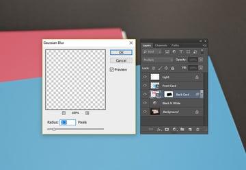 Non Destructive Smart Filter Blur application on the Smart Object