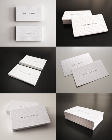 Elegant Business Card Mockup Bundle Photoshop psd Templates