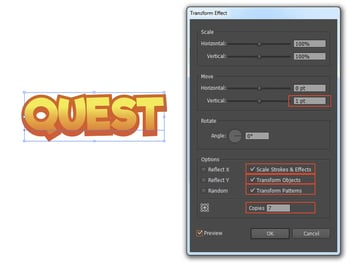 Transform Effect Using Appearance Panel
