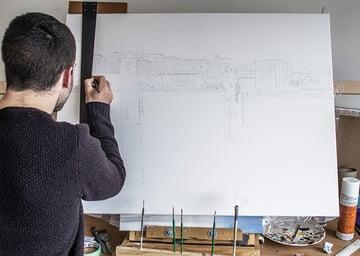 jack magnus mcdonald sketching up a painting