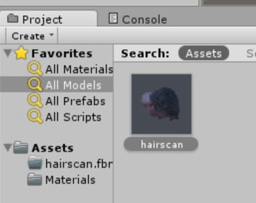 3D scanned head in Unity