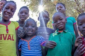 School children at Escola Primaria de Mafacitela in Mozambique