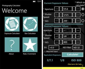 Exposure Calculator App