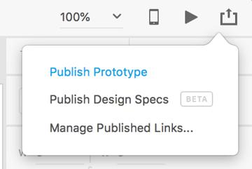 publish options