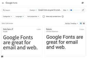 Google Fonts website.