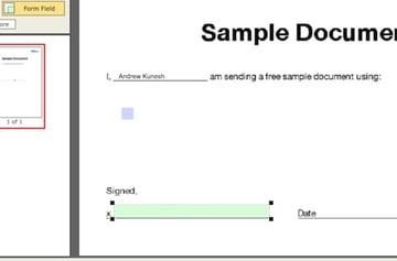 Adding text fields to a PDF document