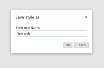 Saving your current font settings as a new style