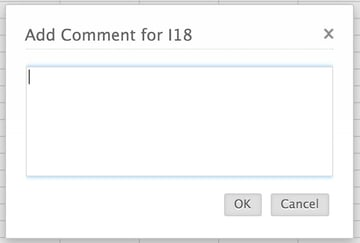 Adding a comment to a cell in Zoho Sheet