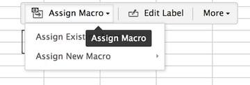 Creating a macro button in ZoHo Sheet