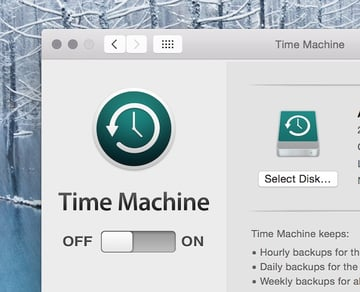 Disabling Time Machine on the old backup drive