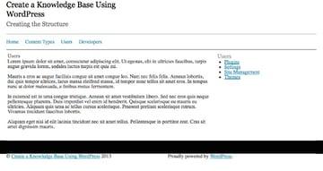 User topics list