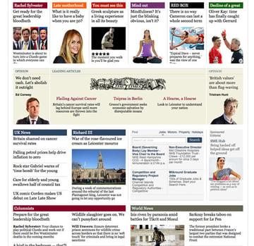 Times website screenshot