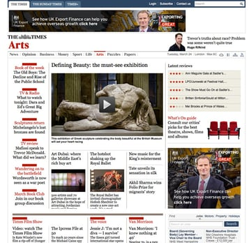 Times Arts section