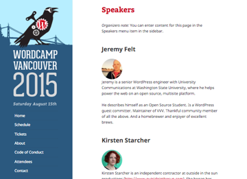 WordCamp Vancouver 2015 site