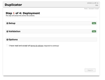 first installer page on new site