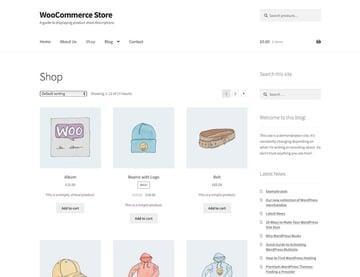 Shop with short descriptions