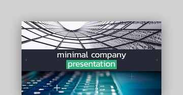 Minimal Company Presentation - After Effects Business Template