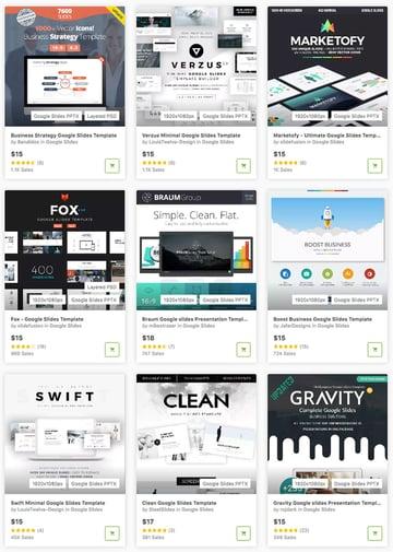 Best Google Slides Themes on GraphicRiver