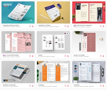 Best Pictorial Resume design templates on Envato Elements 2019
