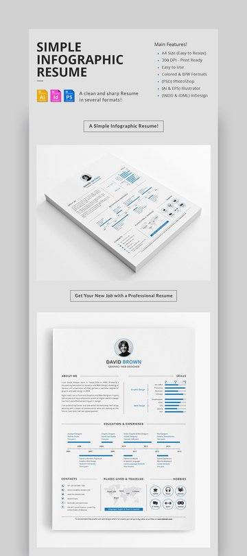 Simple Infographic Resume Design