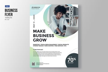 Elegant Business Flyer with a promo