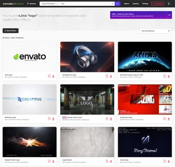 Logo Video Animation on Envato Elements - stings reveals  intro videos for 2019