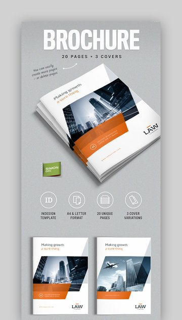 Letter and A4 Brochure Template InDesign