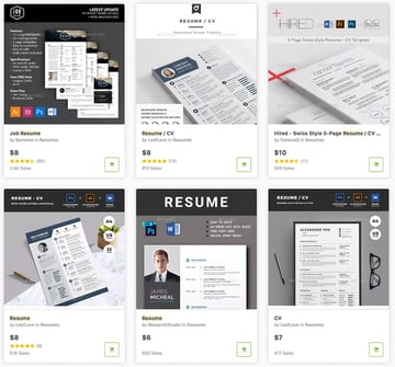 Simple CV format in Word available for sale on Envato Market