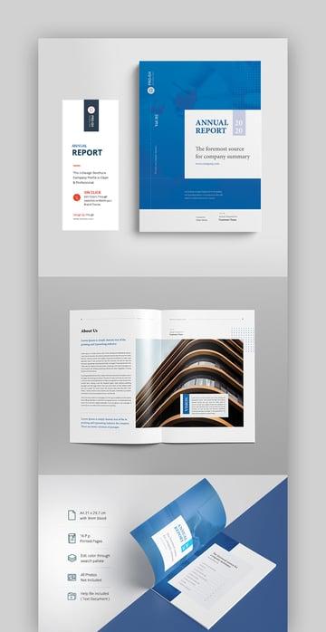 Professional 20202021 Annual Report Template Design