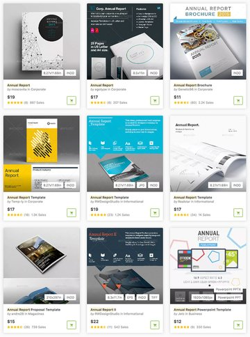 Awesome Annual Reports on GraphicRiver