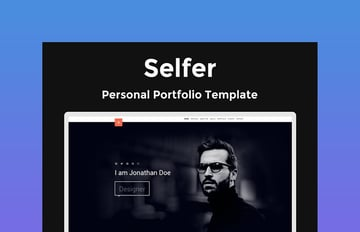 Selfer Portfolio Personal HTML Resume Website Template