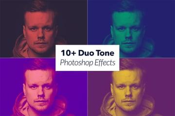 10 Duotone Photoshop Effects