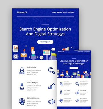 Enhance - Mailchimp Inspiration for SEO and Digital Agency