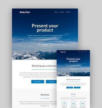 Glacier - Mailchimp Responsive Email Templates