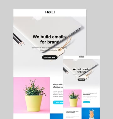 Hixel - Responsive Email Template for Agency