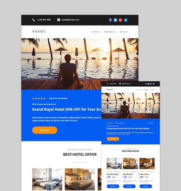 Paxos - Responsive Email Template Mailchimp