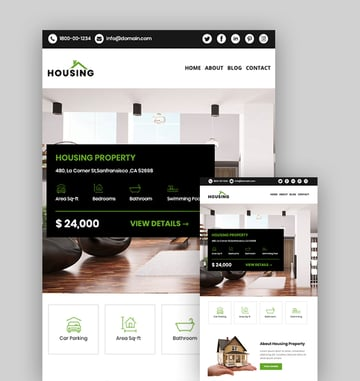Real Estate - Mailchimp Themes