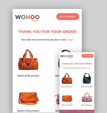 WOHOO - Best Email Design Notifications Template