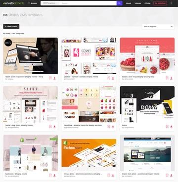 Top Shopify Theme on Envato Elements for 2019