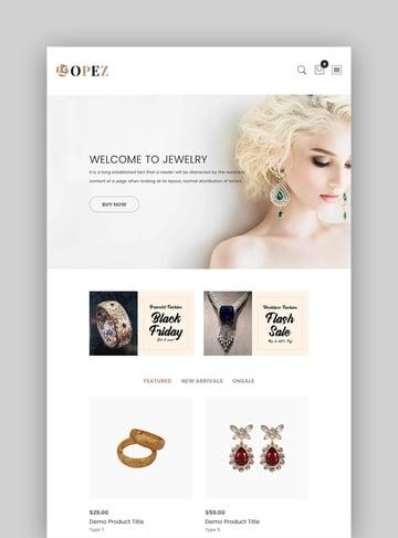 Lopez - Jewelry Shopify Themes