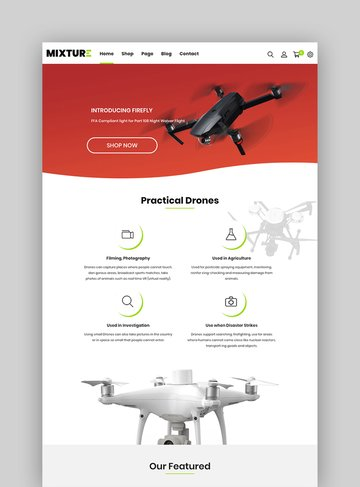 Mixture - Single Product Shopify Themes