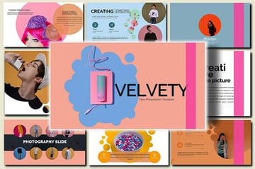 Velvety Fashion PowerPoint template from Envato Elements with cool PowerPoint slides and stylish backgrounds